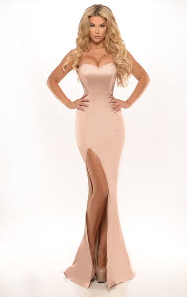 GEORGETTE GOWN CHAMPAGNE