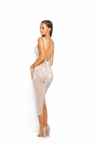PS3014 IVORY COUTURE DRESS