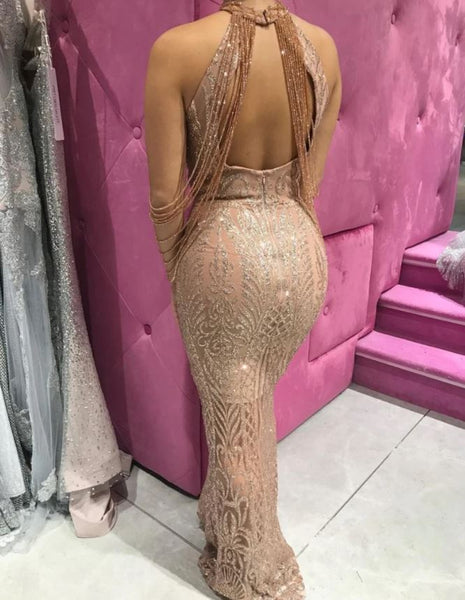 LILY GOWN ROSE GOLD