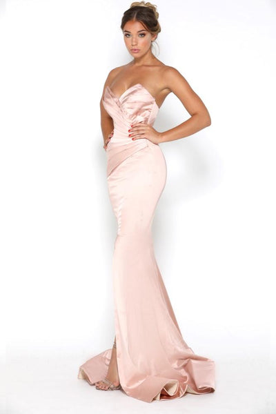 STELLA GOWN SPLIT BLUSH