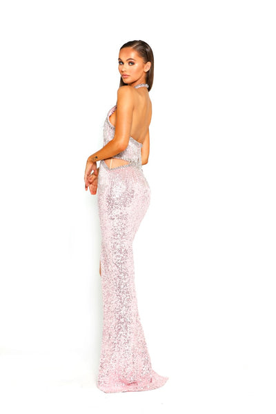 PS1901 BLUSH EVENING DRESS