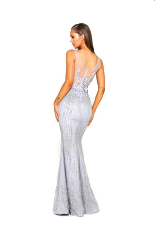 PS1903 GOWN SILVER