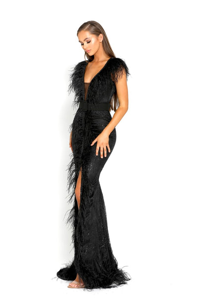PS1909 BLACK EVENING DRESS