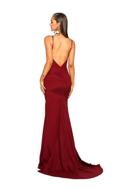 PS1912 DEEP RED DRESS