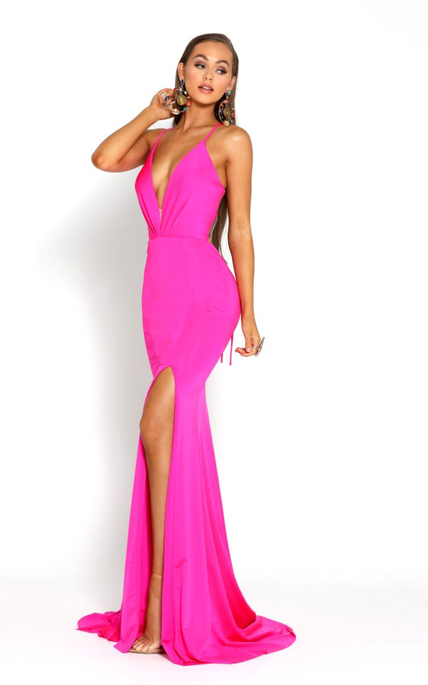 PS1919 GOWN FUSCHIA