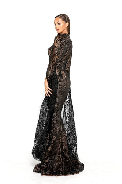 PS1943 BLACK EVENING DRESS