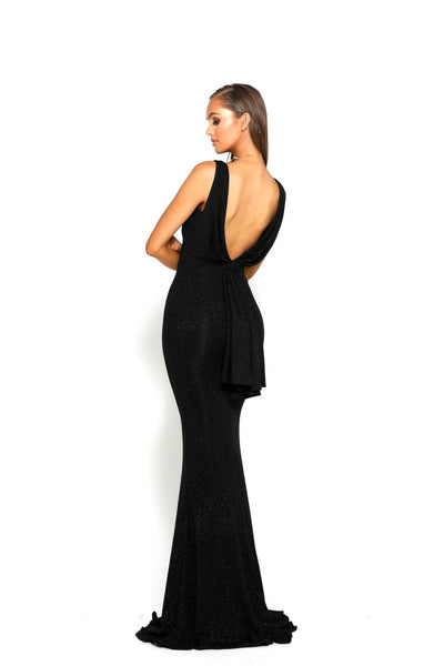 PS1966 BLACK EVENING DRESS