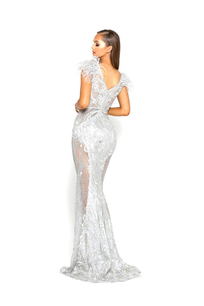 PS1986 SILVER FUFU GOWN