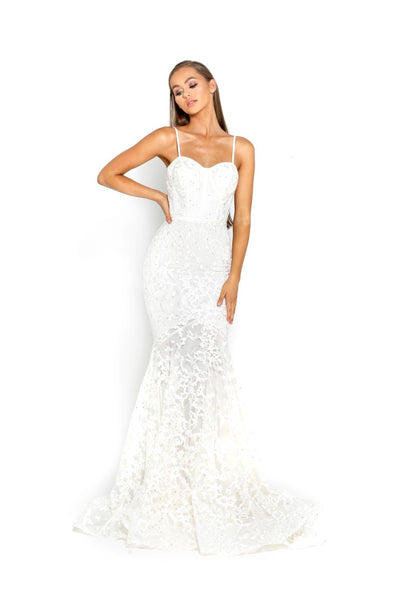 PS2009 IVORY EVENING DRESS