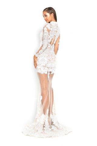 PS2014 WHITE EVENING DRESS