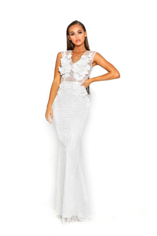 PS2015 WHITE EVENING DRESS