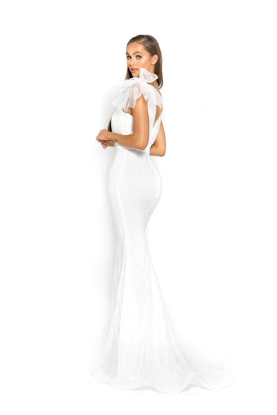 PS2017 WHITE EVENING DRESS