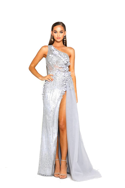 PS2018 SILVER EVENING DRESS