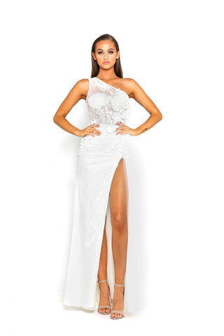 PS2018 WHITE EVENING DRESS