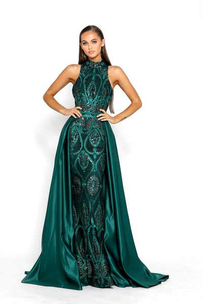 c5c523c8c75 PS2030 EMERALD EVENING DRESS – The Doll House XOXO