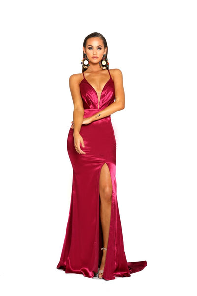 PS2037 DEEP RED DRESS