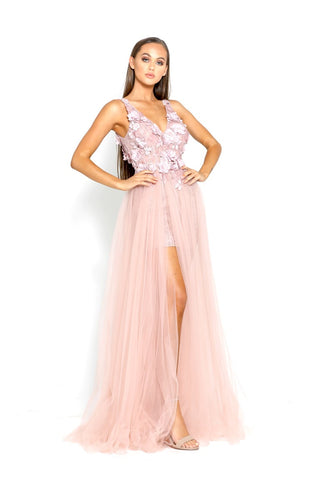 PS2040 BLUSH EVENING DRESS