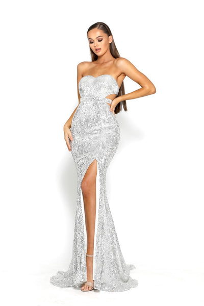 PS2043 GOWN SILVER