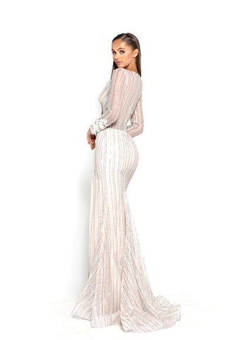 PS2048 GOWN WHITE NUDE