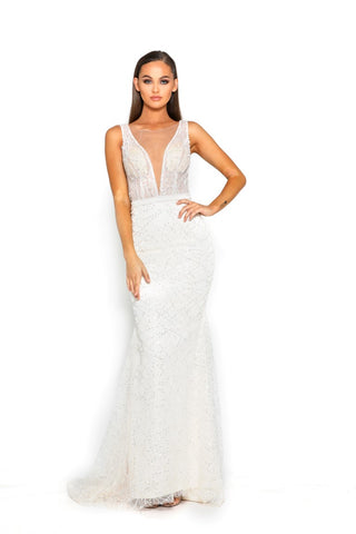 PS2059 GOWN WHITE