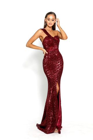PS2061 DEEP RED DRESS