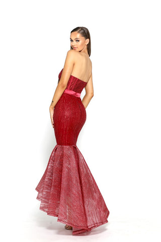 PS2063 RED GOWN