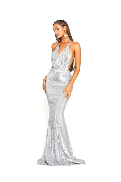 PS2069 GOWN SILVER