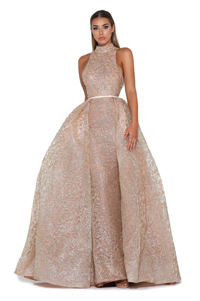 PS1702 GOLD EVENING DRESS