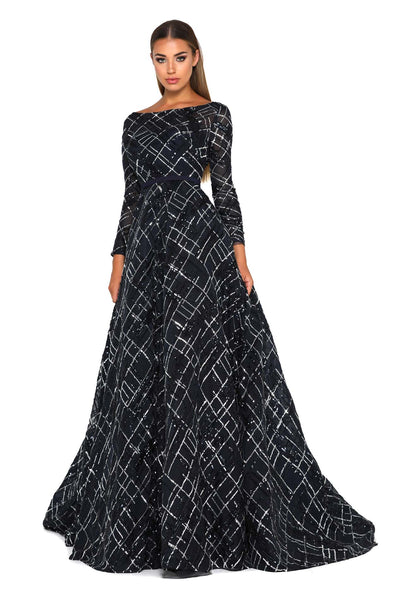 1703 NAVY GOWN