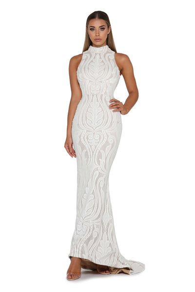 1721 WITH OUT SKIRT IVORY EVENING GOWN