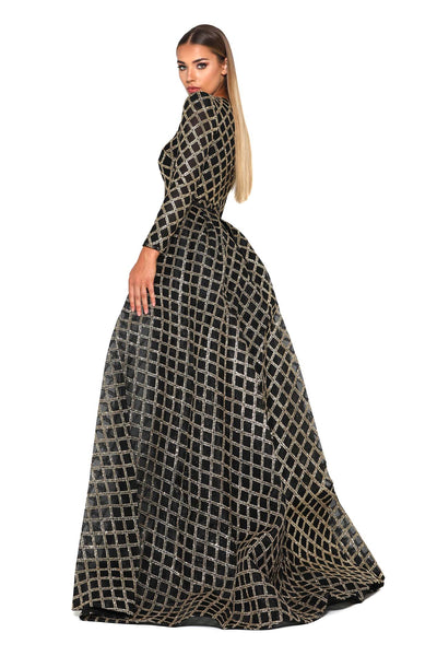 1744 GOLD BLACK GOWN