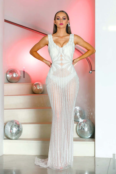 AUDERY CLEAR EVENING DRESS