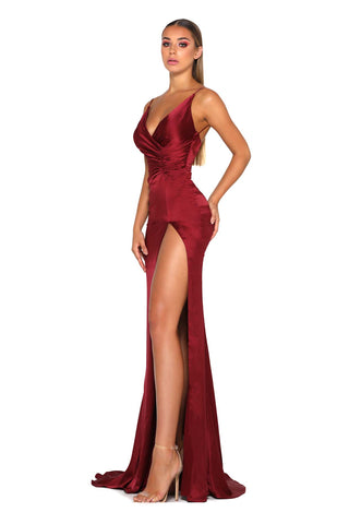 HUGO GOWN DEEP RED DRESS