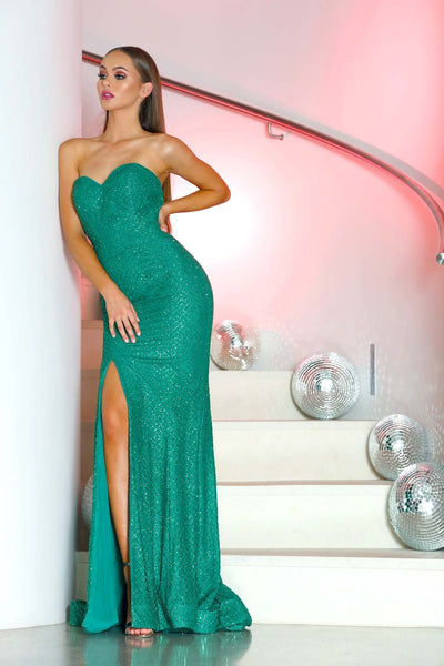 TYRA GOWN EMERALD