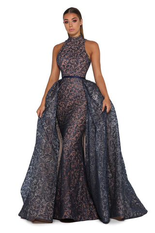 PS1702 NAVY GOWN