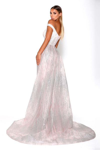 ALICE LONG SLEEVES GOWN PINK SILVER