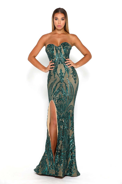 1755 GOWN EMERALD