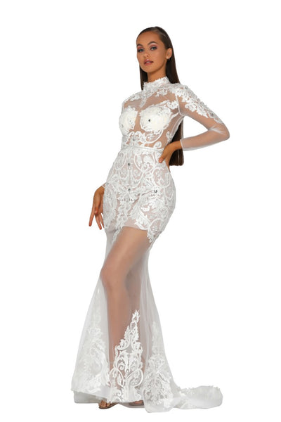 PS5004 WHITE DRESS