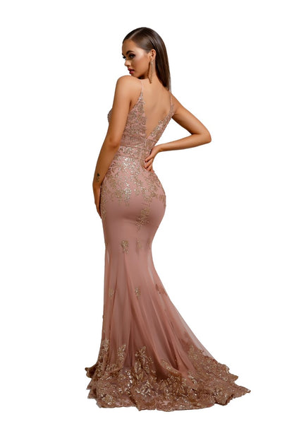 PS5005 GOWN ROSE GOLD