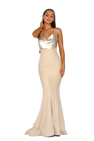 PS5024 GOWN CHAMPAGNE