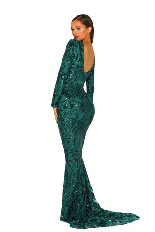PS5044 GOWN EMERALD