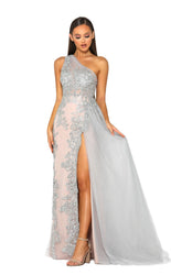 PS5051 SILVER NUDE DRESS