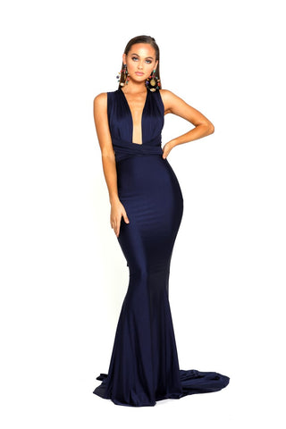 PS6110 NAVY LILIANNA DRESS