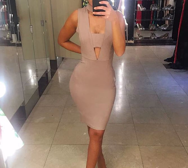 ISSUE DRESS NUDE