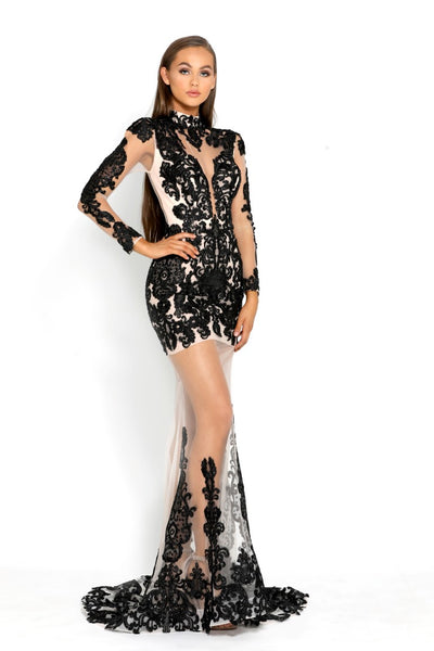 PS2014 BLACK EVENING DRESS