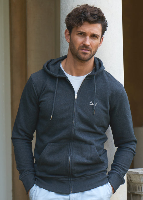 Men's Dark Grey Zip Hoodie