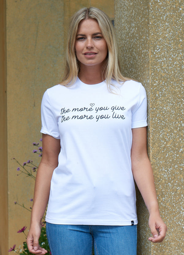 COMING SOON - The More You Give, The More You Live Tee