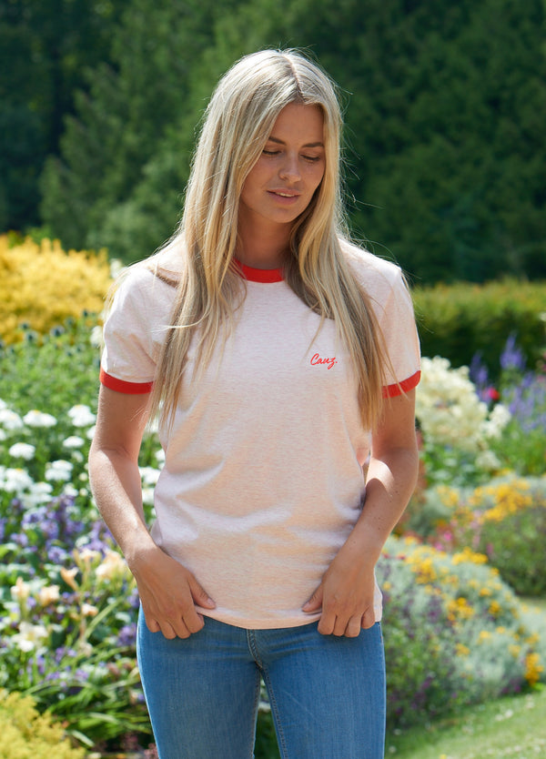 COMING SOON - Heather Pink and Red Classic Tee