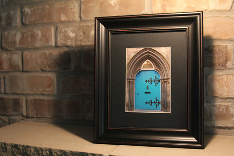 The Blue Door--Framed