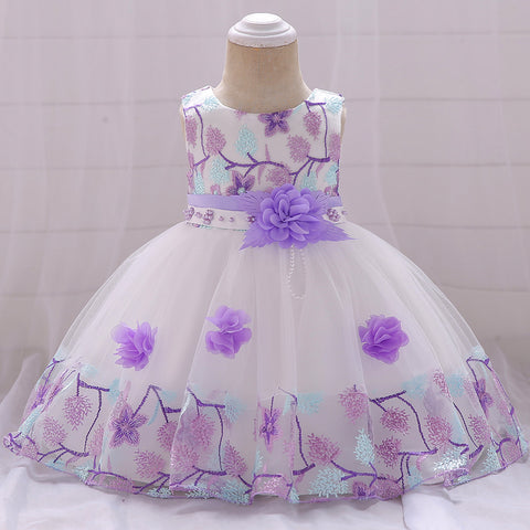 Three-dimensional Flower Dress for Girls